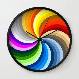 Rainbow Swirl Multi-Coloured Circle Design Wall Clock