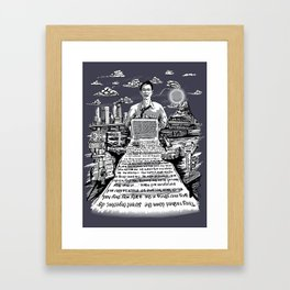 on the road - kerouac  Framed Art Print