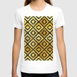 Turkish carpet gold black. Patchwork mosaic oriental kilim rug T-shirt