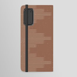 Southwestern Minimalist - Camel Brown Android Wallet Case
