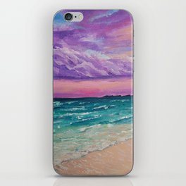 Sombre purple sky iPhone Skin