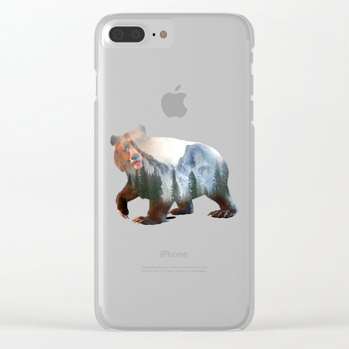 Happy Bear Clear iPhone Case