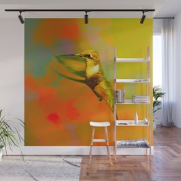 End of Summer Hummingbird Wall Mural