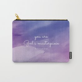 You are God's masterpiece, Ephesians 2:10 Carry-All Pouch