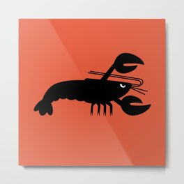 Angry Animals - Lobster Metal Print