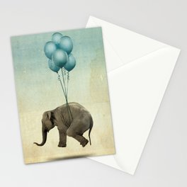 Levitating Elephant Stationery Cards