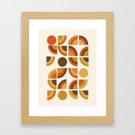 Kosher - retro throwback minimalist 70s abstract 1970s style trend Framed Art Print