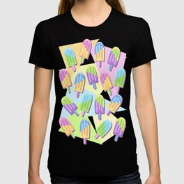 Ice Lollipops Popsicles Summer Punchy Pastels Colors Pattern T-shirt