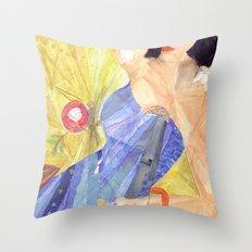 Blues Singer Throw Pillow