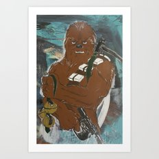 Lock and Load Chewie Art Print
