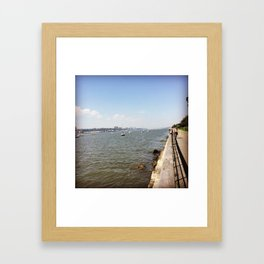 Hudson River On a Sunny Day Framed Art Print