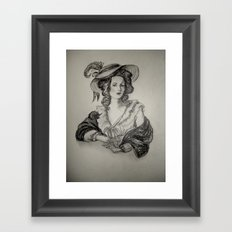 French Sketch IV Framed Art Print
