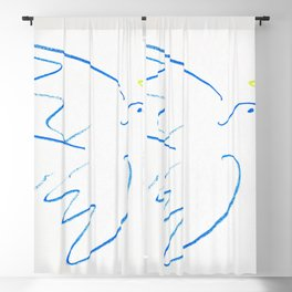 12,000pixel-500dpi - Pablo Picasso - Dove of Peace - Digital Remastered Edition Blackout Curtain