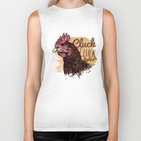 chicken Biker Tanks featuring Chicken by Superfan