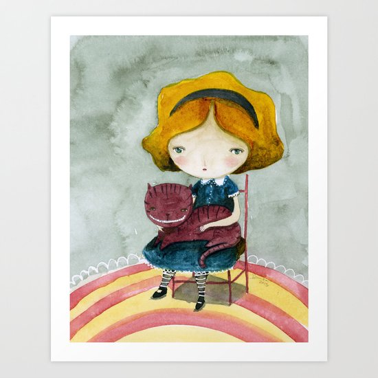 Alice In Watercolorland Art Print