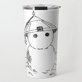 Cute Asian Snowman Travel Mug