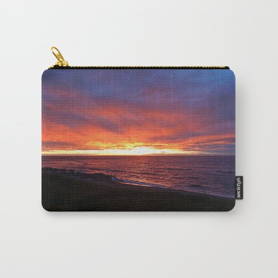 Beach Sunset on the Sea Carry-All Pouch