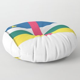 Flag of Central African Republic. The slit in the paper with shadows. Floor Pillow