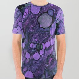 Purple River All Over Graphic Tee