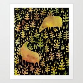 Elks Art Print