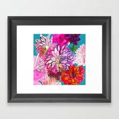 Garden of Dahlias Framed Art Print