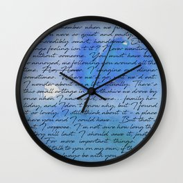Do You Remember... Blue Wall Clock