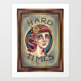 hard times girl Art Print