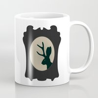 jackalope Mugs featuring JACKALOPE SILHOUETTE by American Handcraft