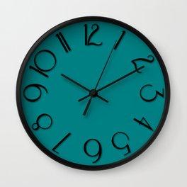 Reisling teal black Wall Clock