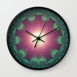 Fractal Abstract 40 Wall Clock