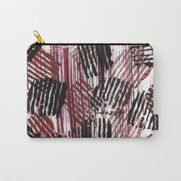 Red black lines Carry-All Pouch