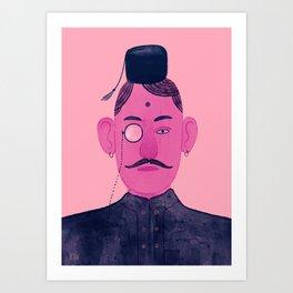 Monocle Man 1 Art Print