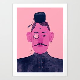 Monocle Man 1 Art Print
