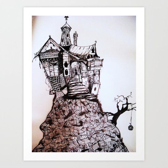 Creepy House Art Print