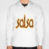 marc johns Hoodies featuring Salsa Marc On Fire by Salsa Republic