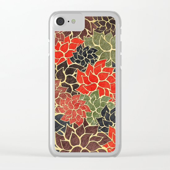 Floral Abstract 17 Clear iPhone Case