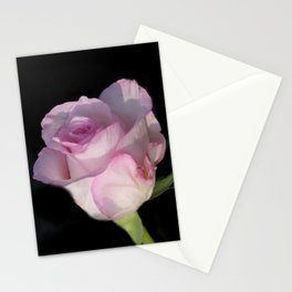 flowers of spring on black -74- Stationery Cards