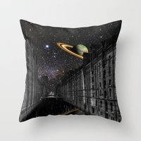 saturn Throw Pillows featuring Saturn by Cs025