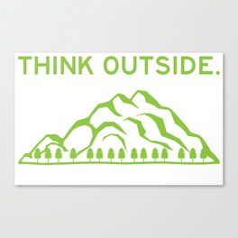 Think Outside No Box Necessary - Funny Hiking Pun Gift Canvas Print