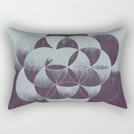 Sacred Geometry in the Forest Rectangular Pillow