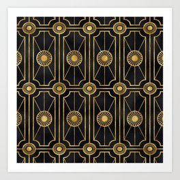 Sultry Art Deco: A Sniffer of Brandy at Midnight Art Print