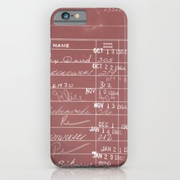 Library Card 23322 Negative Red iPhone Case