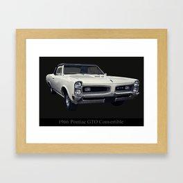 1966 Pontiac GTO Convertible Framed Art Print