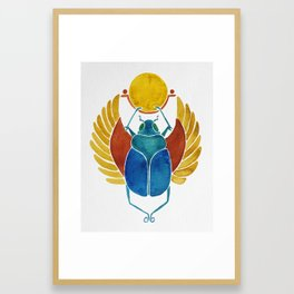 Scarab Framed Art Print