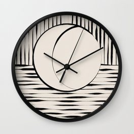 Half Moon Wall Clock