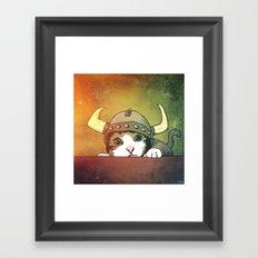 Viking Kitty Framed Art Print