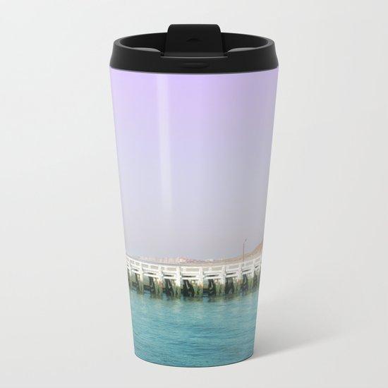 North Sea Pier Metal Travel Mug