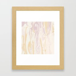 Liquid Rose Gold Marble Framed Art Print