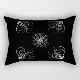 Silver Embossed Corners Rectangular Pillow