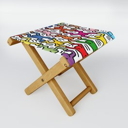 Homage to Keith Haring Acrobats II Folding Stool
